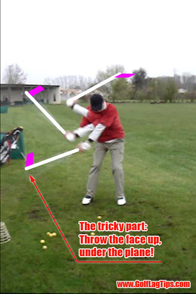 Golf Swinging Procedure - Throw out action